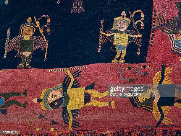 Llama wool fabric used to wrap mummies Paracas culture Peru PreColumbian civilisation