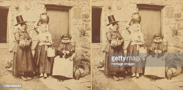 Llanberis Group of Three Welsh Peasants 1850s1910s Artist Unknown