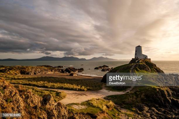 Llanddwyn Island, Anglesey, Wales with Obsolete Lighthouse