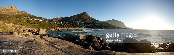 Llandudno Beach, Cape Town at sunset.