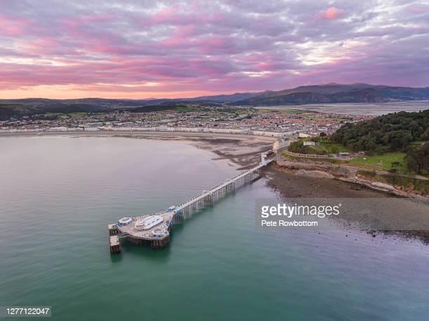 llandudno pier sunrise - coastline stock pictures, royalty-free photos & images
