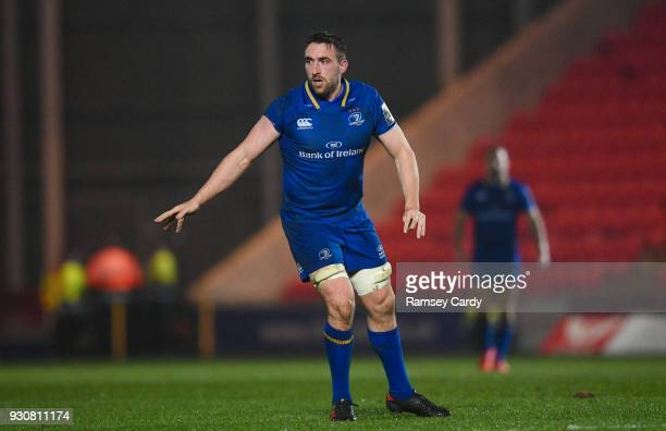 Llanelli United Kingdom 9 March 2018 Jack Conan of Leinster during the Guinness PRO14 Round 17 match between Scarlets and Leinster at Parc Y Scarlets...