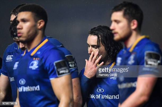 Llanelli United Kingdom 9 March 2018 James Lowe of Leinster following his side's draw in the Guinness PRO14 Round 17 match between Scarlets and...