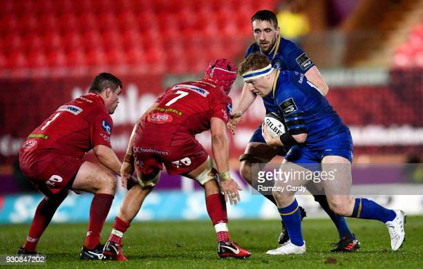 Llanelli United Kingdom 9 March 2018 James Tracy of Leinster during the Guinness PRO14 Round 17 match between Scarlets and Leinster at Parc Y...