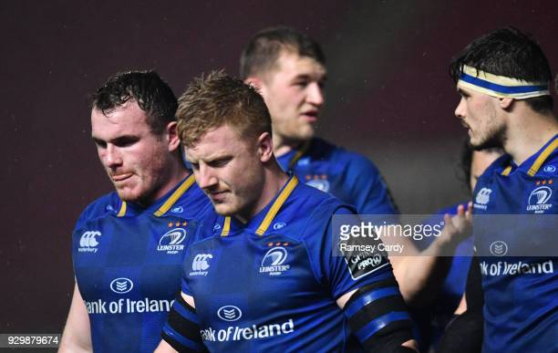 Llanelli United Kingdom 9 March 2018 James Tracy of Leinster following his side's draw in the Guinness PRO14 Round 17 match between Scarlets and...