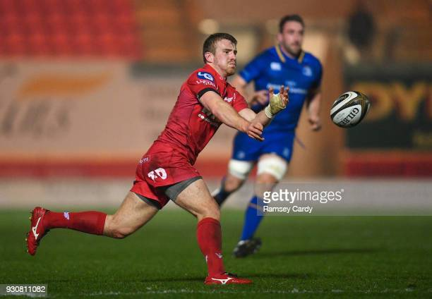 Llanelli United Kingdom 9 March 2018 Jonathan Evans of Scarlets during the Guinness PRO14 Round 17 match between Scarlets and Leinster at Parc Y...