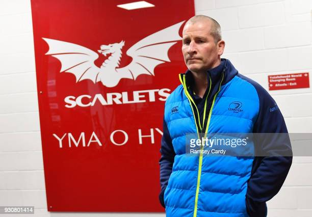 Llanelli United Kingdom 9 March 2018 Leinster senior coach Stuart Lancaster ahead of the Guinness PRO14 Round 17 match between Scarlets and Leinster...