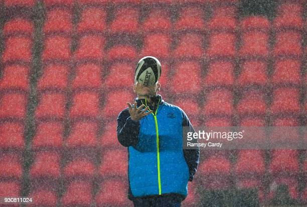 Llanelli United Kingdom 9 March 2018 Leinster senior coach Stuart Lancaster during the Guinness PRO14 Round 17 match between Scarlets and Leinster at...