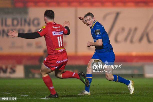 Llanelli United Kingdom 9 March 2018 Nick McCarthy of Leinster during the Guinness PRO14 Round 17 match between Scarlets and Leinster at Parc Y...