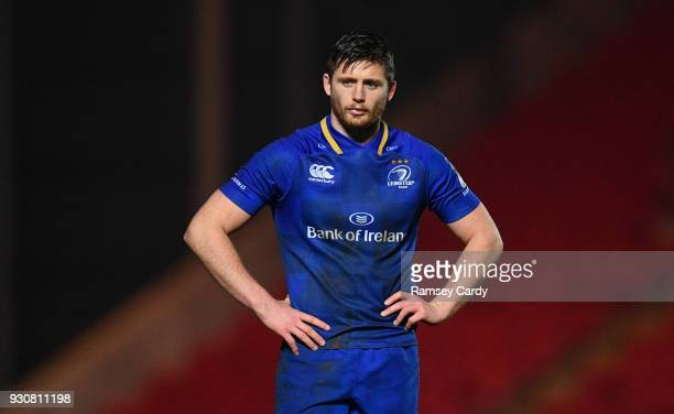 Llanelli United Kingdom 9 March 2018 Ross Byrne of Leinster during the Guinness PRO14 Round 17 match between Scarlets and Leinster at Parc Y Scarlets...