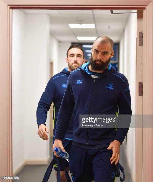 Llanelli United Kingdom 9 March 2018 Scott Fardy of Leinster ahead of the Guinness PRO14 Round 17 match between Scarlets and Leinster at Parc Y...