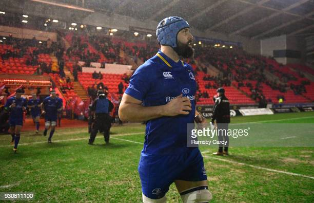 Llanelli United Kingdom 9 March 2018 Scott Fardy of Leinster during the Guinness PRO14 Round 17 match between Scarlets and Leinster at Parc Y...