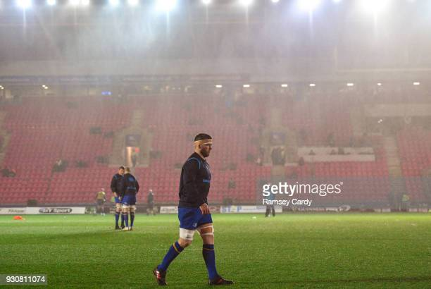 Llanelli United Kingdom 9 March 2018 Seán OBrien of Leinster ahead of the Guinness PRO14 Round 17 match between Scarlets and Leinster at Parc Y...