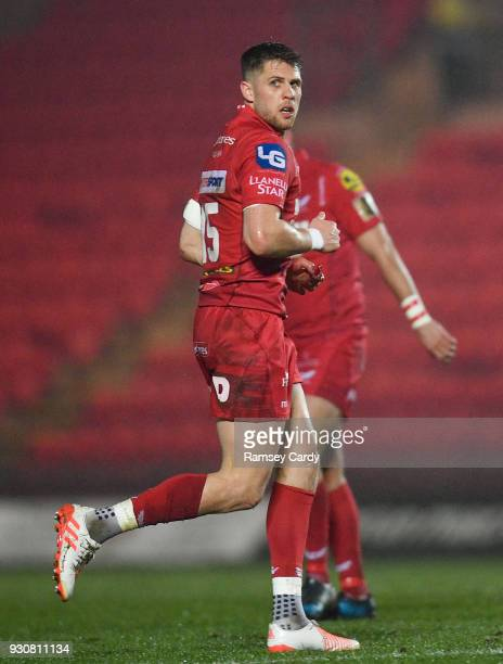 Llanelli United Kingdom 9 March 2018 Tom Williams of Scarlets during the Guinness PRO14 Round 17 match between Scarlets and Leinster at Parc Y...