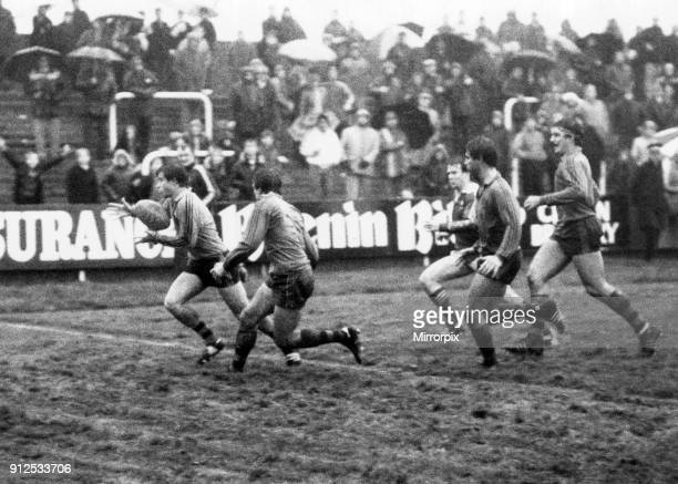 Llanelli v Australia rugby match, during the Australia tour of Britain and Ireland. Llanelli won: Llanelli 19, Australia 16, 20th November 1984.