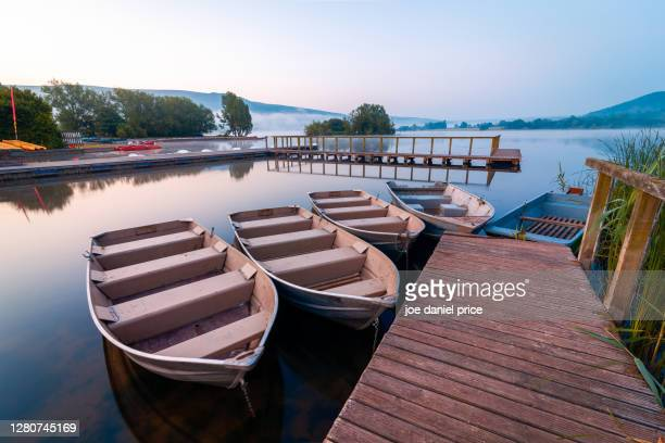llangorse lake, brecon beacons, wales - wales stock pictures, royalty-free photos & images