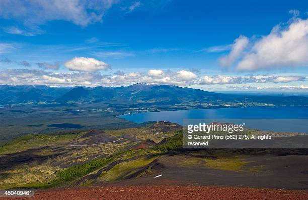 llanquihe lake - calbuco volcano stock pictures, royalty-free photos & images
