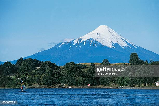 Llanquihue Lake with the Osorno in the background Puerto Varas Los Lagos Province Chile