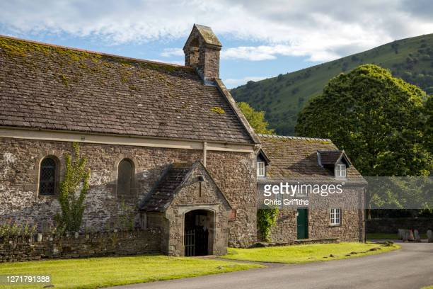 llanthony priory, wales, uk - church stock pictures, royalty-free photos & images