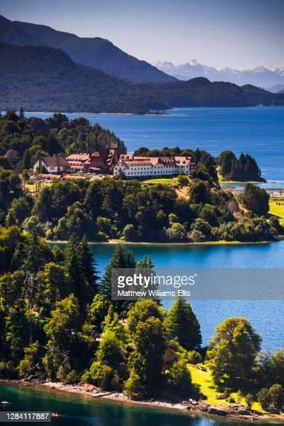 Llao Llao Hotel and lakes on the San Carlos de Bariloche mini circuit, Rio Negro Province, Patagonia, Argentina, South America.
