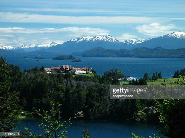 llao resort, bariloche, argentina - bariloche stock pictures, royalty-free photos & images
