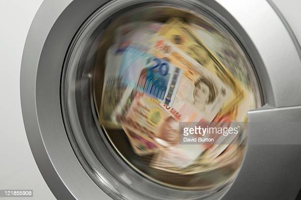 Llaundered money in washing machine