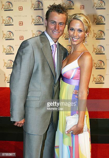 Lleyton and Bec Hewitt arrive at the 48th Annual TV Week Logie Awards at the Crown Entertainment Complex May 7 2006 in Melbourne Australia