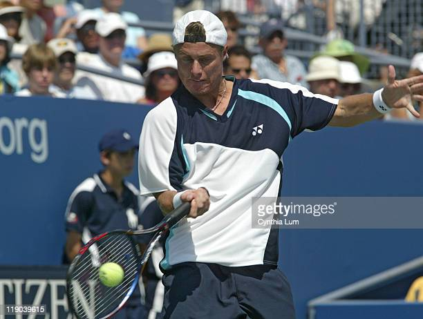 Lleyton Hewitt during his match against Jose Acasuso in the second round of the 2005 US Open at the USTA National Tennis Center in Flushing New York...