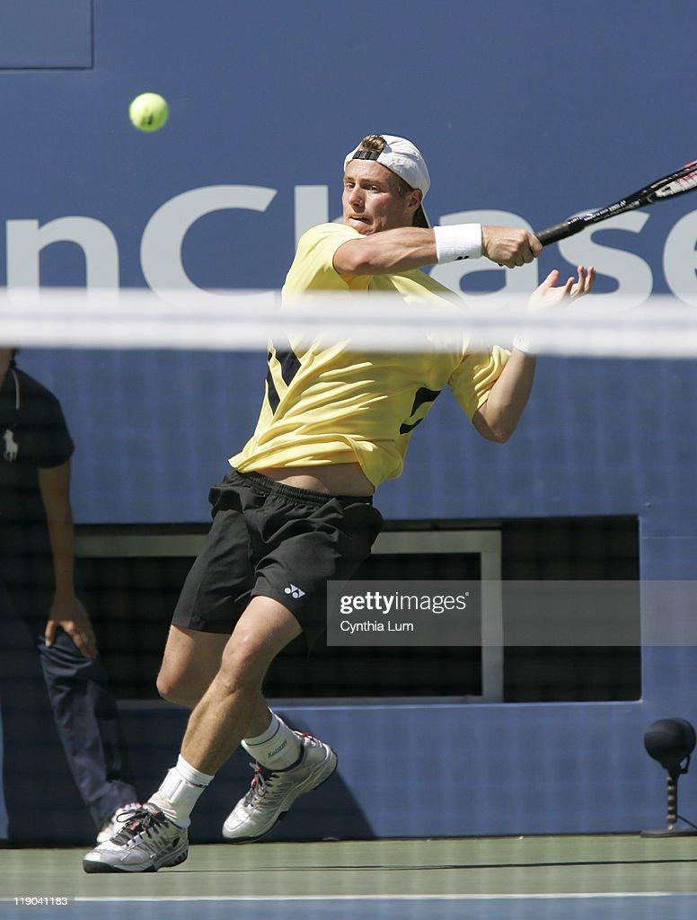 2005 US Open - Mens Singles - Round Four - Lleyton Hewitt vs.Dominik Hrbaty -