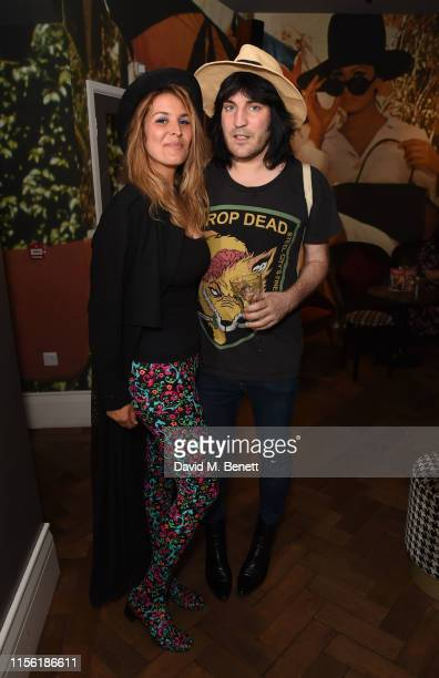 Lliana Bird and Noel Fielding attend a special screening of Snapshots a short film by Lliana Bird Phoebe Barran at the Everyman Maida Vale on July 17...