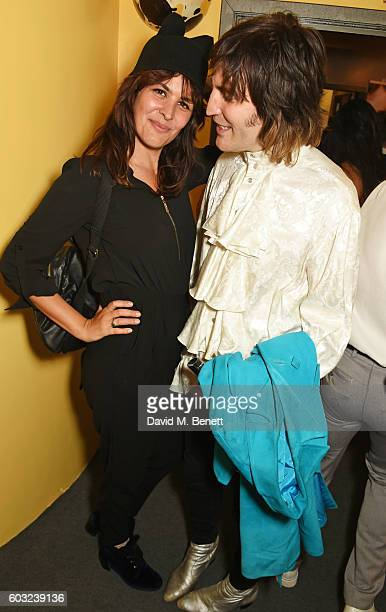 Lliana Bird and Noel Fielding attend the press night performance of '27' at The Cockpit Theatre on September 12 2016 in London England