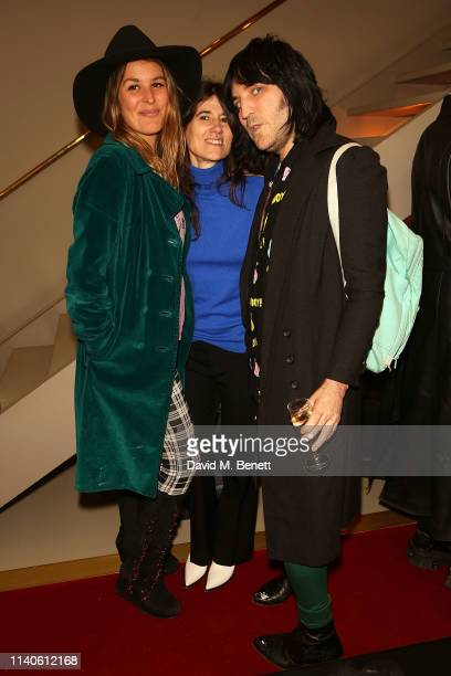Lliana Bird Bella Freud and Noel Fielding attend the Bella Freud 'Happening' poetry session at on May 1 2019 in London England