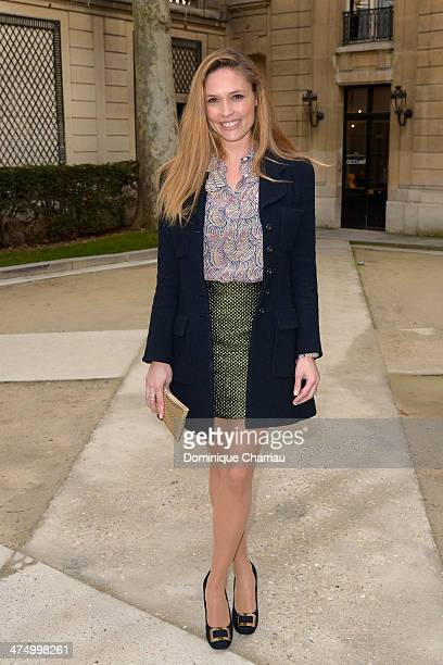 Llilou Fogli attends the Alexis Mabille show as part of the Paris Fashion Week Womenswear Fall/Winter 20142015 on February 26 2014 in Paris France