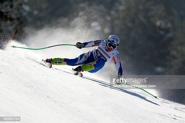 Llka Stuhec of Slovenia competes during the Audi FIS Alpine Ski World Cup Women's Downhill on March 02 2013 in GarmischPartenkirchen Germany