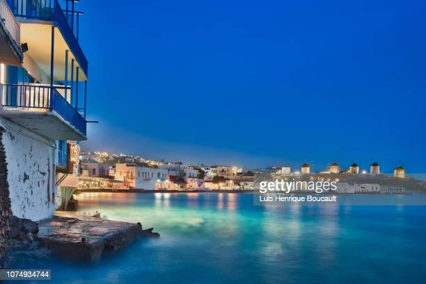 lllmykonos & long exposure - greek islands stock pictures, royalty-free photos & images