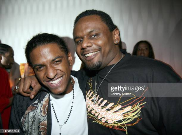 Lloyd and Carl Thomas during Lloyd Celebrates the Release of His New Album Street Love March 13 2007 at Myst Nightclub in New York City New York...