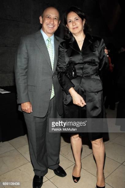 Lloyd Blankfein and Laura Blankfein attend BARNARD COLLEGE PASS THE TORCH Scholarship Dinner and Auction at Guastavino's on April 29 2009 in New York...