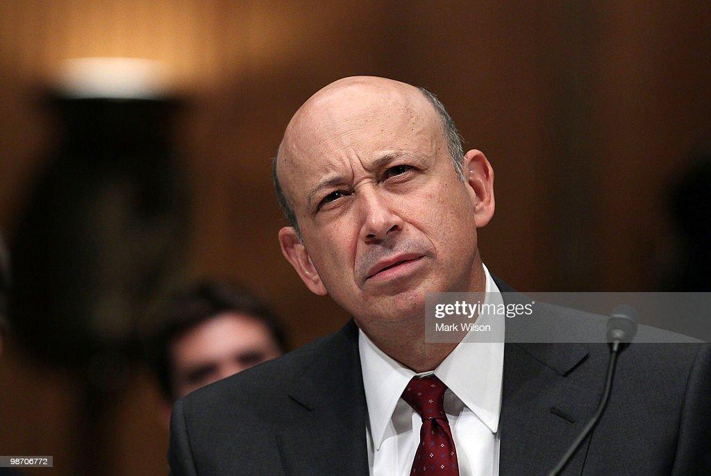 Goldman Sachs Executives Testify At Senate Hearing On Financial Crisis