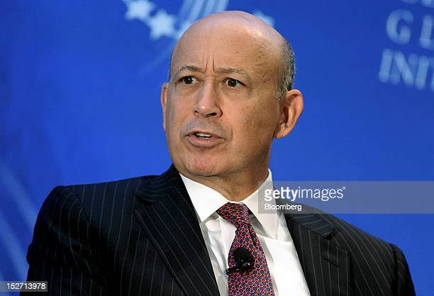 Lloyd Blankfein chairman and chief executive officer of Goldman Sachs Group Inc speaks at the annual meeting of the Clinton Global Initiative in New...