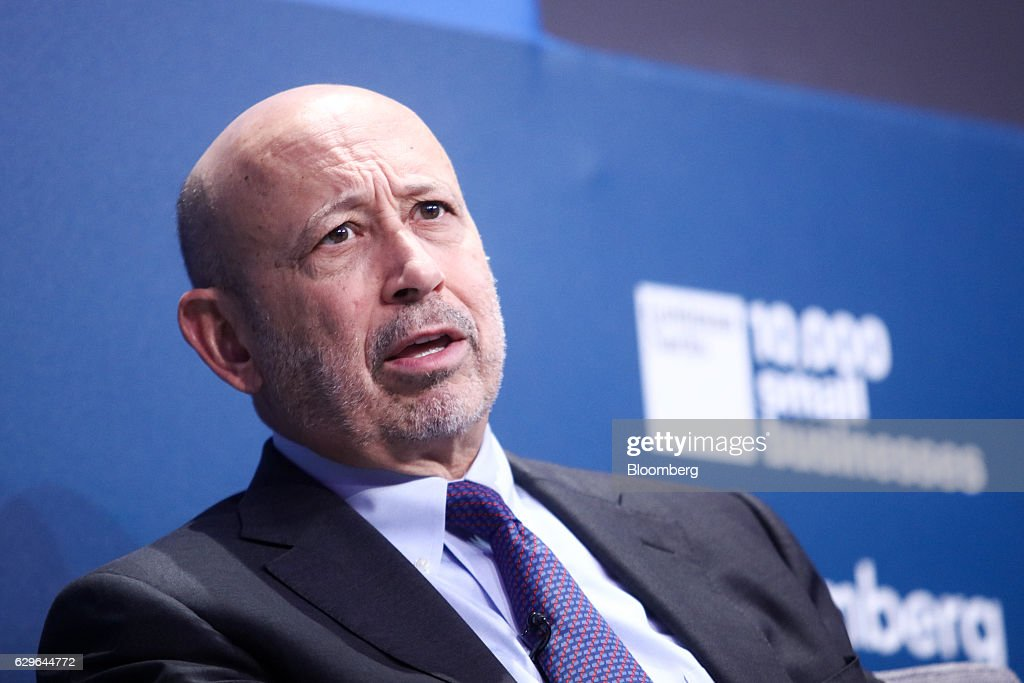 Lloyd Blankfein, chairman and chief executive officer of Goldman Sachs Group Inc., speaks during a panel session at the 10,000 Small Businesses (1OKSB) Partnership Event at their offices in London, U.K., on Wednesday, Dec. 14, 2016. The 'pendulum happily has swung by' the era when people criticized Goldman Sachs executives taking positions in public service, Blankfein said at the event. Photographer: Chris Ratcliffe/Bloomberg via Getty Images