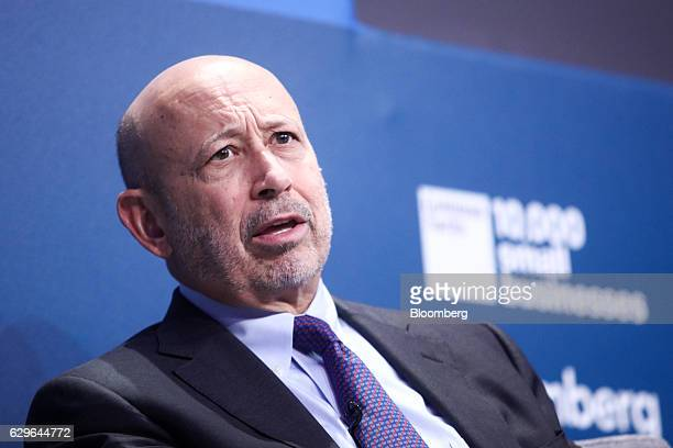 Lloyd Blankfein chairman and chief executive officer of Goldman Sachs Group Inc speaks during a panel session at the 10000 Small Businesses...