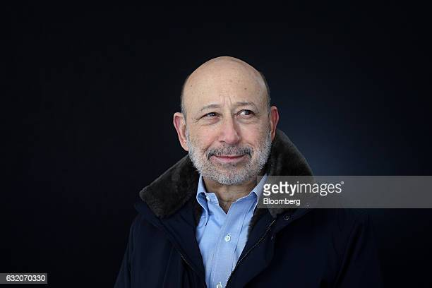Lloyd Blankfein chairman and chief executive officer of Goldman Sachs Group Inc poses for a photograph following a Bloomberg Television interview at...