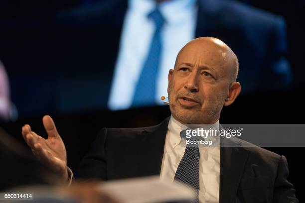 Lloyd Blankfein, chairman and chief executive officer of Goldman Sachs Group Inc., speaks during the Bloomberg Global Business Forum in New York,...