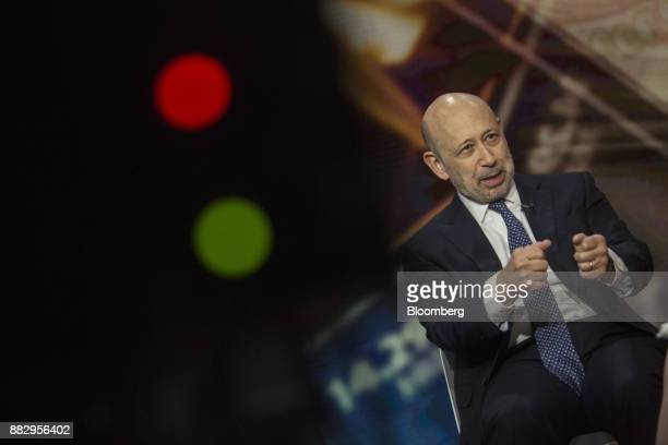 Lloyd Blankfein, chairman and chief executive officer of Goldman Sachs Group Inc., speaks during a Bloomberg Television interview in New York, U.S.,...