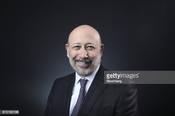 Lloyd Blankfein, chairman and chief executive officer of Goldman Sachs Group Inc., poses for a photograph following a Bloomberg Television interview...