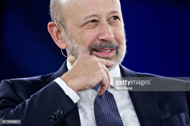 Lloyd Blankfein chairman and chief executive officer of Goldman Sachs Group Inc listens during a discussion at the Goldman Sachs 10000 Small...