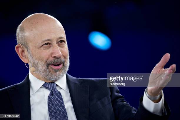 Lloyd Blankfein chairman and chief executive officer of Goldman Sachs Group Inc speaks during a discussion at the Goldman Sachs 10000 Small...