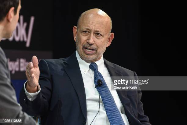 Lloyd Blankfein Senior Chairman The Goldman Sachs Group Inc speaks at the New York Times DealBook conference on November 1 2018 in New York City