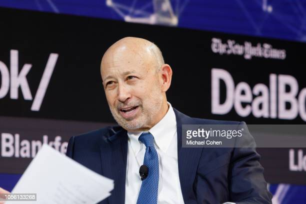 Lloyd Blankfein Senior Chairman The Goldman Sachs Group Inc speaks onstage during the 2018 New York Times Dealbook on November 1 2018 in New York City