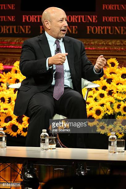 Lloyd Blankfein speaks onstage at the Fortune Most Powerful Women Summit 2016 at RitzCarlton Laguna Niguel on October 18 2016 in Dana Point California